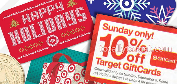 Coupon database totallytarget on sunday december 3 only target will be offering up 10 off all target gift cards you must purchase a minimum of a 10 target gift card and there is a negle Images