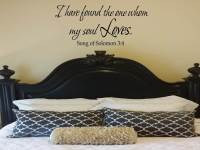 I have found the one whom my soul loves Wall Decal