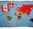 Alighiero e Boetti Mappa, 1971-72 embroidery on linen 200 x 360 cm