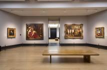 Gallery B, com vista parcial da exposição Rubens e Rembrandt