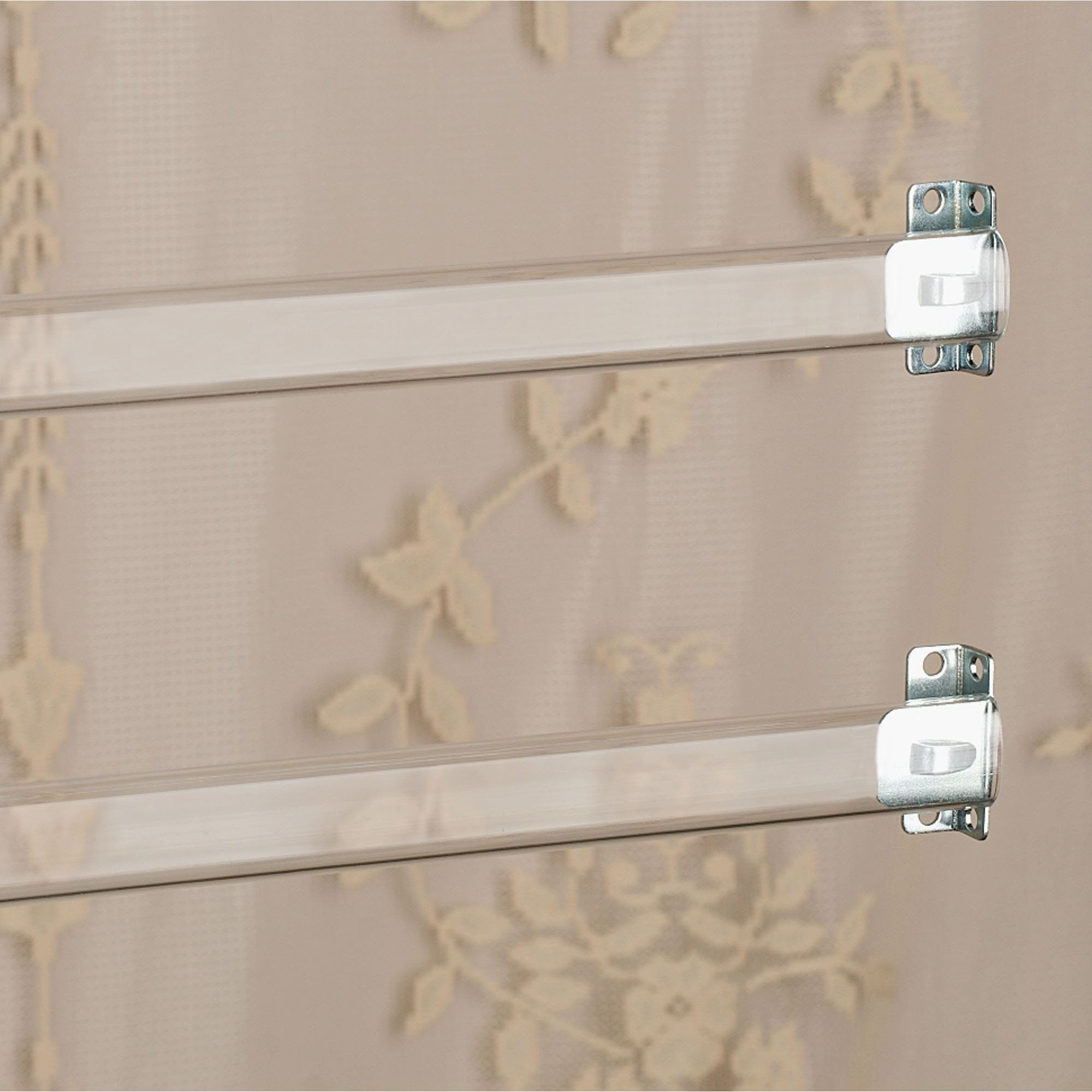Clear sash curtain rod set clear click to expand