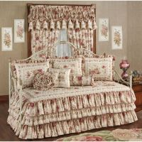 Heirloom Rose Floral Ruffled Daybed Bedding Set