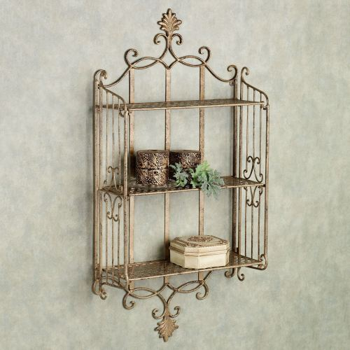 Medium Of Metal Wall Shelf