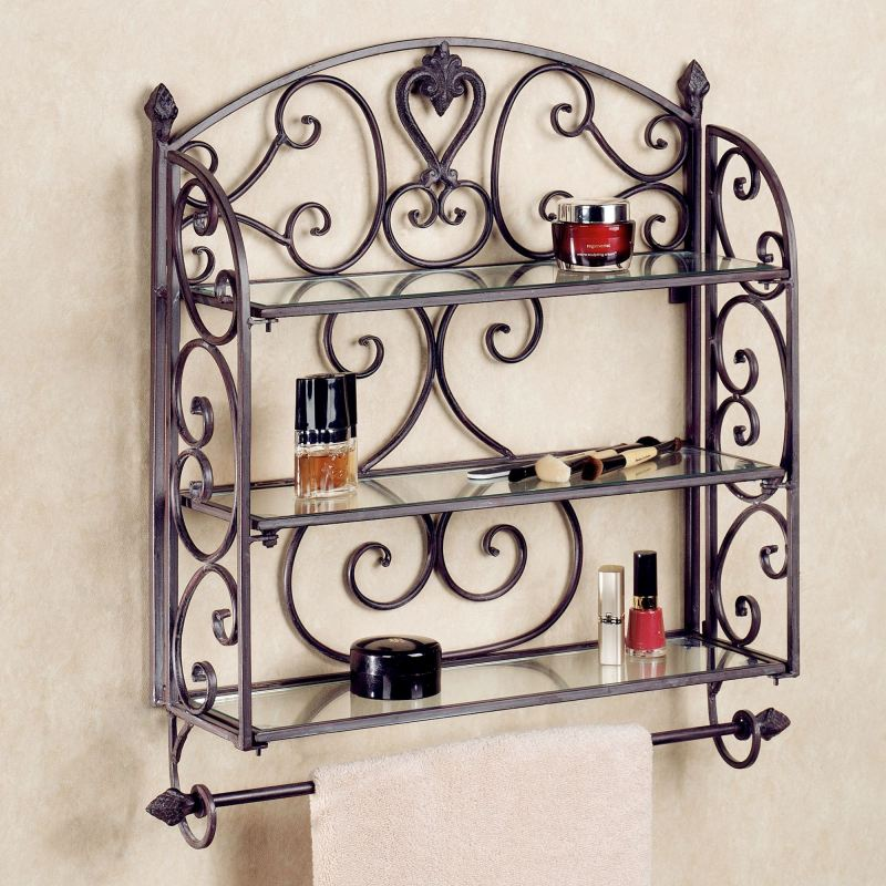 Large Of Decorative Bathroom Wall Shelves