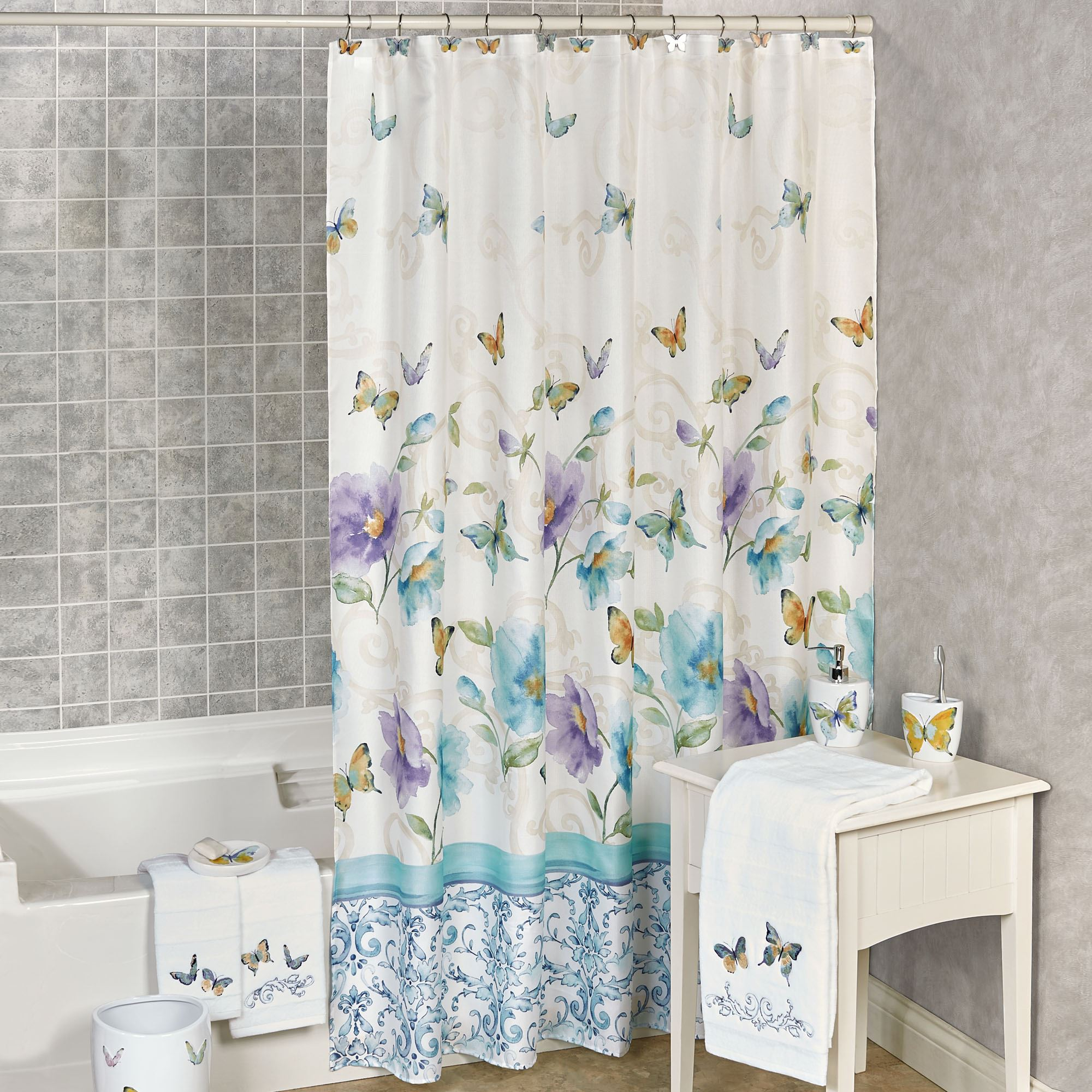 Fullsize Of Butterfly Shower Curtain