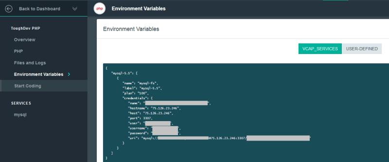 vcap_services