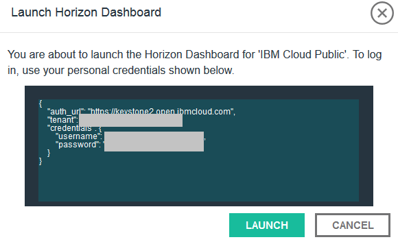 horizon dashboard