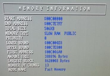 Amiga Sysinfo Slow RAM