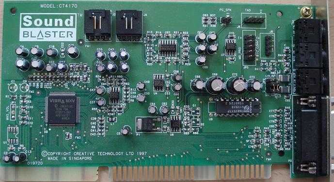 Creative Sound Blaster 16 WavEffects Model CT4170 ISA Sound Card