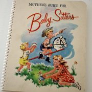 vintage mother's baby sitting guide book
