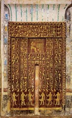3d Door Wallpaper The Tomb Of Mehu At Saqqara In Egypt