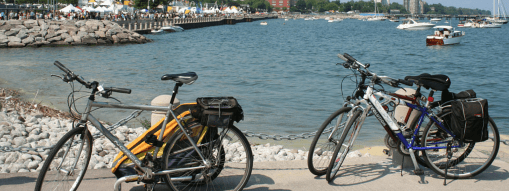 bikes on waterfront