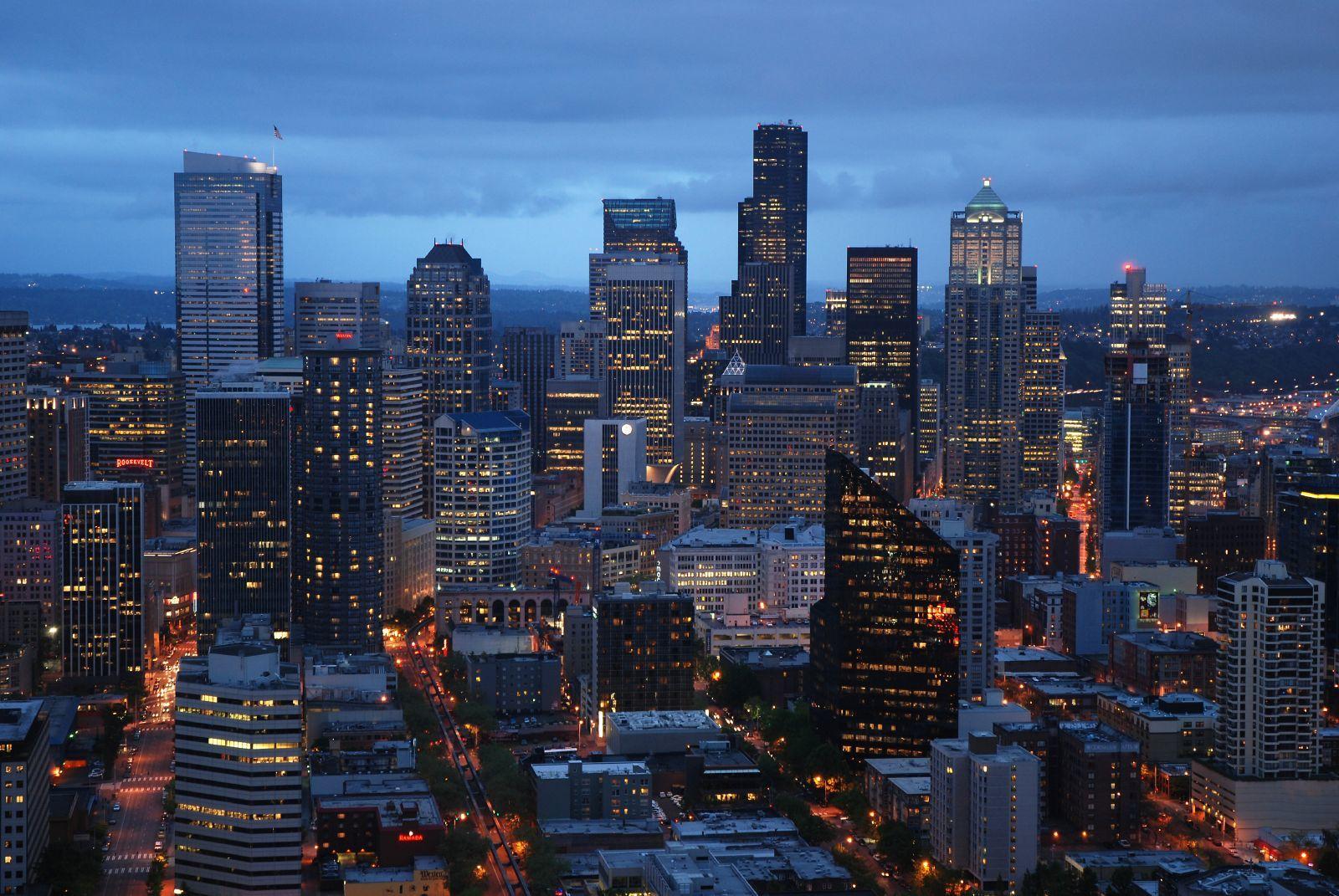 Seattle Washington In Fall City Night Wallpaper Usa Tourist Maker