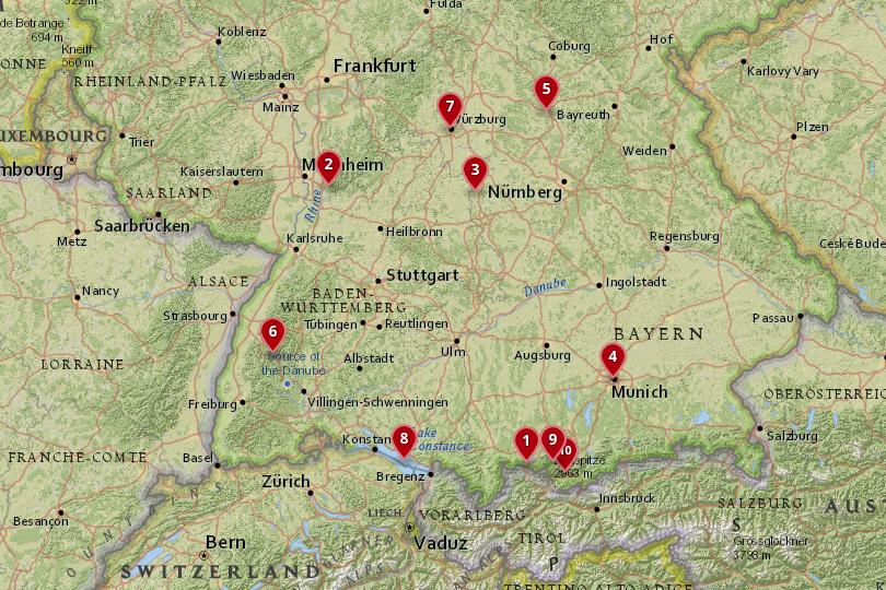 Awesome Southern Germany Map Galleries - Printable Map - New