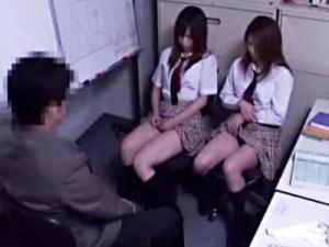 【JKレイプ盗撮動画】無賃乗車した女子校生を事務所でお仕置き…駅長に手コキで謝罪する姿を監視カメラが録画…