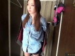 【無修正盗撮動画】秋田美人か!?肌が最高に綺麗な素人ギャルの下着更衣を隠しカメラで盗撮…