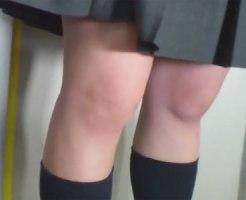 【逆さ撮り隠撮動画】高画質カメラで撮影…電車内でミニスカ制服の女子校生たちのパンチラを隠し撮りww
