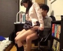 【JK家庭内盗撮動画】勉強後のセックスが目的で学力あがった女子校生…イケメン家庭教師と毎日生中ww