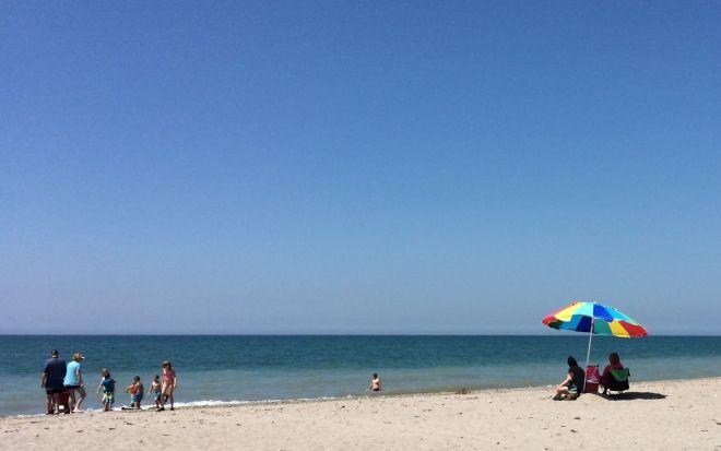 Umbrella by the shore