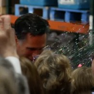 Romney Glitter-bombed Twice by Gay Activists: VIDEO