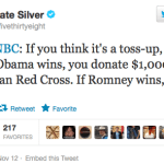 Nate Silver To Joe Scarborough: I Bet You $1,000 Obama Wins