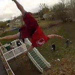 Backflipping Into 1,000 Bags of Autumn Leaves: VIDEO