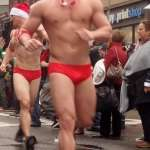 Holiday Packages on Display in Boston's Santa Speedo Run: VIDEOS