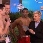 Ellen Crowns Her First Male Underwear Model: VIDEO