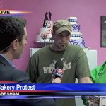 Activists Protest Bigoted 'Sweet Cakes' Bakery While Business Booms: VIDEO