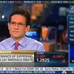 CNBC Host Challenges Eric Cantor on Gay Marriage: 'No One's Asking You to Marry Another Guy'