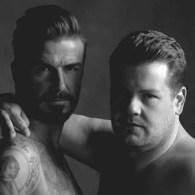 David Beckham and James Corden Get Intimate for New Underwear Line: VIDEO