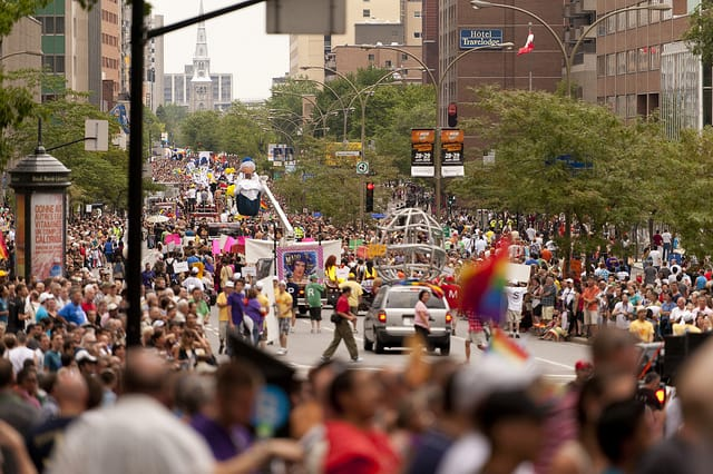 Gay Pride Montreal as seen in Towleroad and ManAboutWorld gay travel magazine