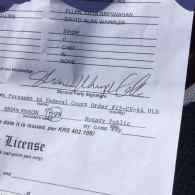 altered marriage license