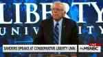Bernie Sanders speaks at Liberty University