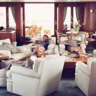 Barry Diller, Calvin Klein, David Geffen, and Sandy Gallin Power Nap Together: PHOTO