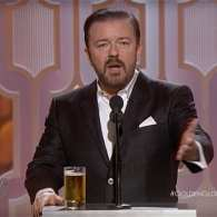 Ricky Gervais Targets Caitlyn Jenner, Celebs in Crass Golden Globes Opening: WATCH
