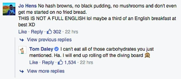 Tom_Daley_FB_breakfast_response