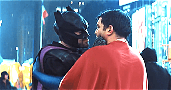 batman superman make out