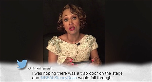 Stacey Dash reads mean tweets