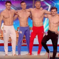 The Shirtless Male Gymnasts of 4G Know How to Use Their Bods on 'Britain's Got Talent'- WATCH