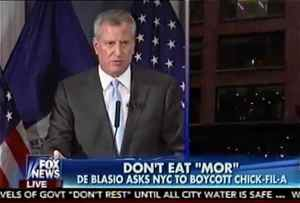 Bill de Blasio Chick-fil-a