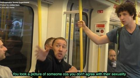 homophobia social experiment london