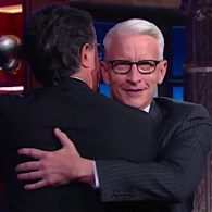 Anderson Cooper Attempts a 'Bro Hug' with Stephen Colbert: WATCH