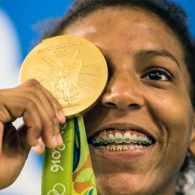Brazil's First Gold Medalist in Rio Overcame Unimaginable Hardship With Help from Longtime Girlfriend