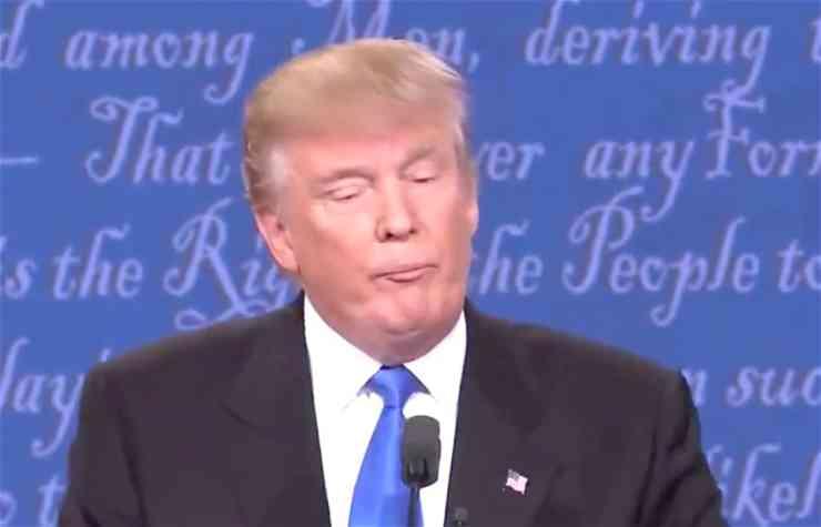 Trump sniffles