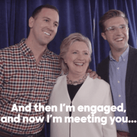 gay couple hillary clinton