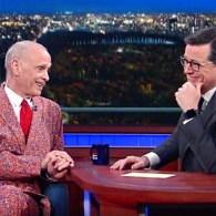John Waters Christmas Stephen Colbert