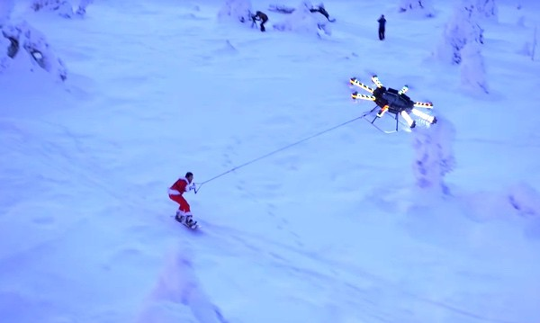 snowboarding drone