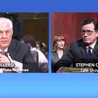 Stephen Colbert Asks Rex Tillerson if Vladimir Putin is a 'War Criminal' – WATCH