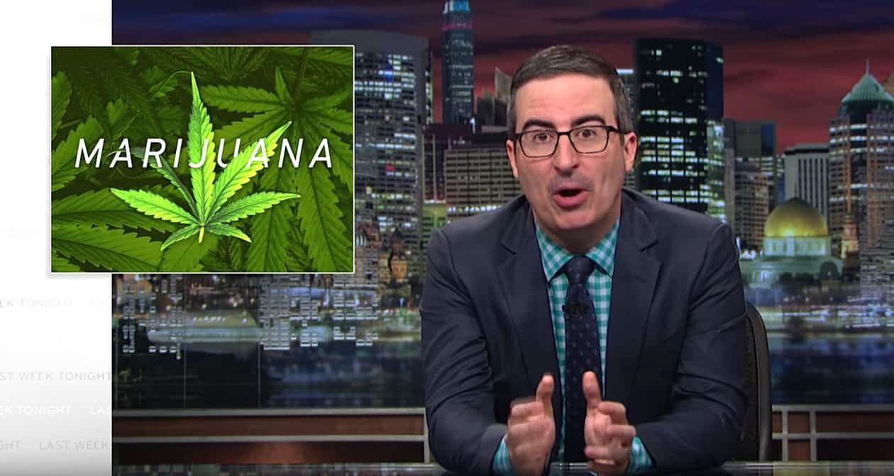 John Oliver gets serious on perils of disjointed weed laws